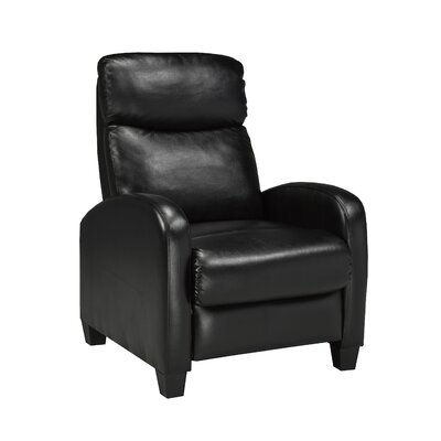 Davita Manual Recliner Upholstery: Black