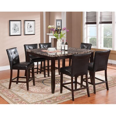 Valentino 7 Piece Pub Table Set