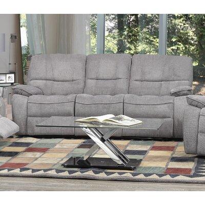 Tober Reclining Sofa Upholstery: Gray