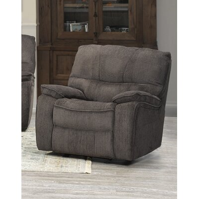 Tober Manual Rocker Recliner Upholstery: Chocolate