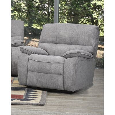 Tober Manual Rocker Recliner Upholstery: Gray