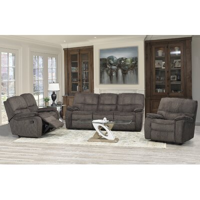 Tober 3 Piece Living Room Set Upholstery: Chocolate