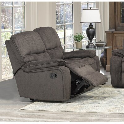 Tober Reclining Loveseat Upholstery: Chocolate