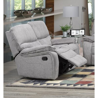 Tober Reclining Loveseat Upholstery: Gray
