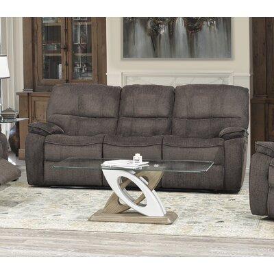 Edmonton Reclining Sofa Upholstery: Chocolate