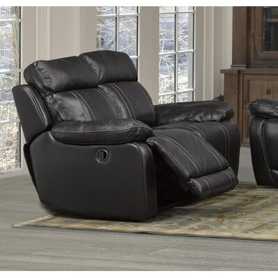 Alexis Leather Reclining Loveseat