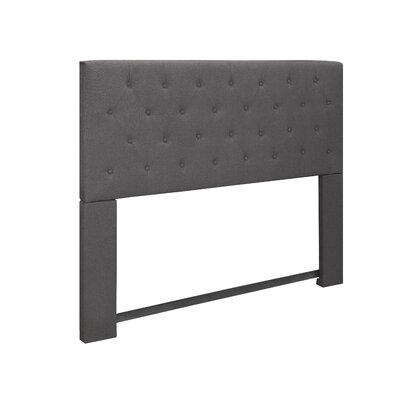 Tufted Upholstered Panel Headboard Upholstery: Gray