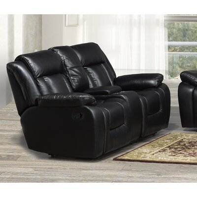 Aisling Reclining Loveseat with Storage Console