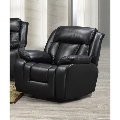 Aisling Manual Rocker Recliner Upholstery: Black