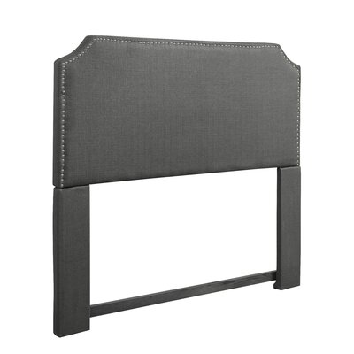 Ousseini Upholstered Panel Headboard Upholstery: Gray