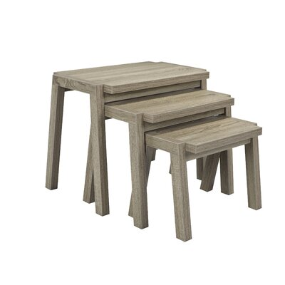Erskine 3 Piece Nesting Tables Color: Dark Taupe