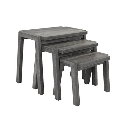 Erskine 3 Piece Nesting Tables Color: Gray
