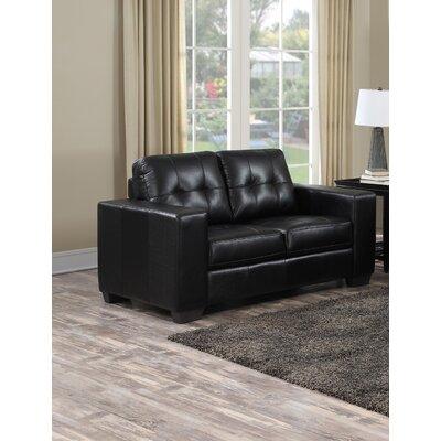 Henrike Loveseat Upholstery: Black