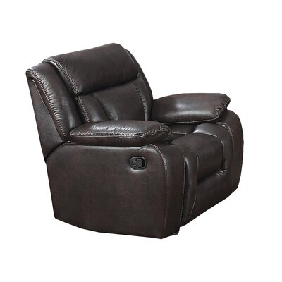 Aisling Manual Rocker Recliner Upholstery: Chocolate