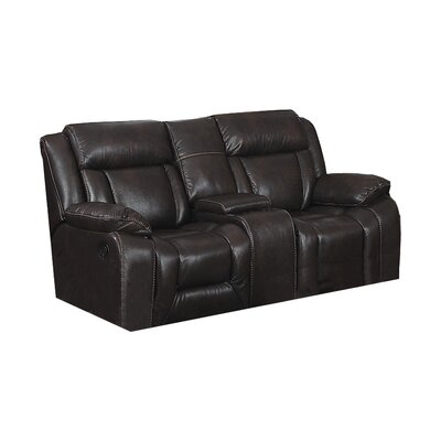 Kaity Recliner Loveseat with Storage Console