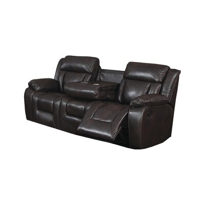 Kaity Traditional Reclining Sofa with Fold Down Tray