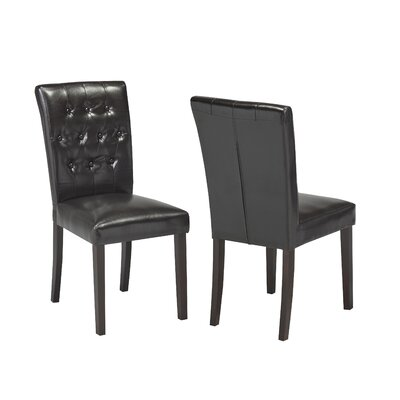 Ohlman Tufted Side Chair Upholstery: Espresso
