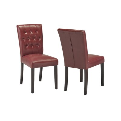 Ohlman Tufted Side Chair Upholstery: Red