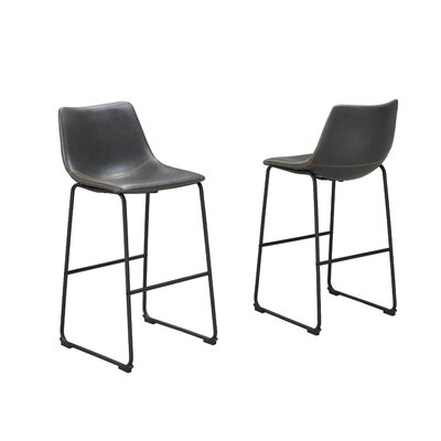 Nyron 29 Bar Stool Upholstery: Gray