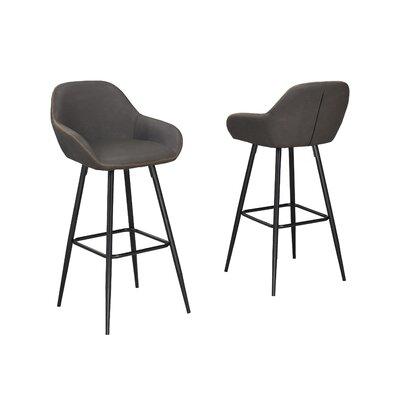 Burciaga 26 Bar Stool Upholstery: Brown