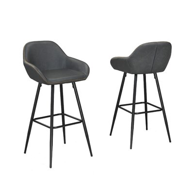 Burciaga 26 Bar Stool Upholstery: Gray