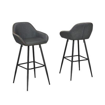 Burciaga 29 Bar Stool Upholstery: Gray