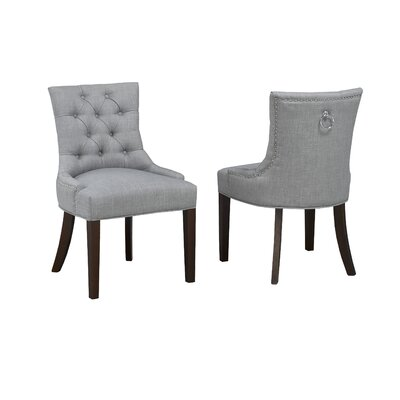 Letitia Upholstered Dining Chair Upholstery: Gray