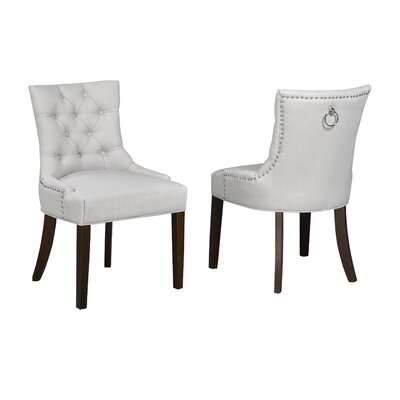 Letitia Upholstered Dining Chair Upholstery: Beige