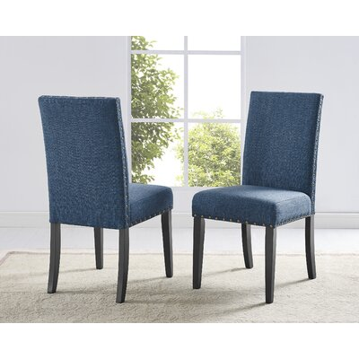 Charandeep Uphostered Dining Chair Upholstery Color: Blue