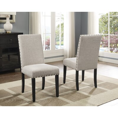 Charandeep Uphostered Dining Chair Upholstery Color: Beige