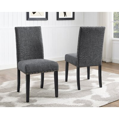 Charandeep Uphostered Dining Chair Upholstery Color: Gray