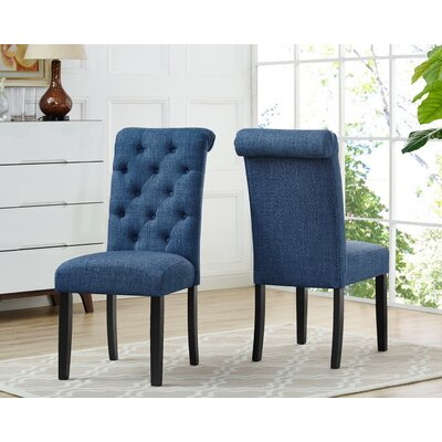Niall Uphostered Dining Chair Upholstery Color: Blue