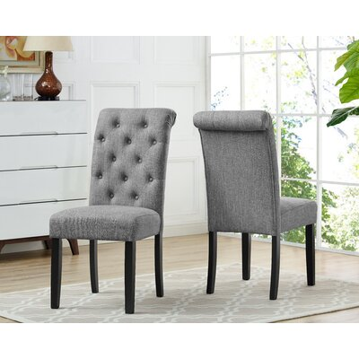 Niall Uphostered Dining Chair Upholstery Color: Gray