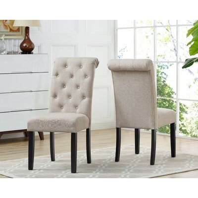 Niall Uphostered Dining Chair Upholstery Color: Beige