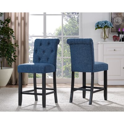Niall Side Chair Upholstery: Blue