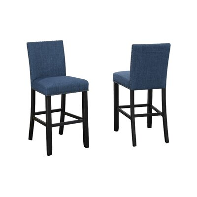 Charandeep 29 Bar Stool Upholstery: Blue