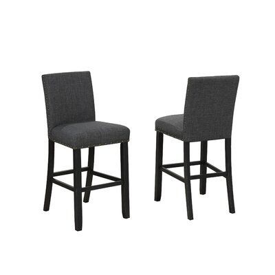Charandeep 29 Bar Stool Upholstery: Gray