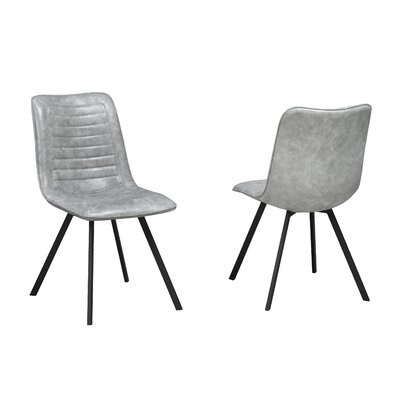 Rahjan Upholstered  Dining Chair Upholstery Color: Gray