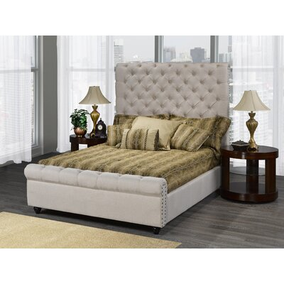 Allistair Upholstered Panel Bed Color: Beige, Size: King