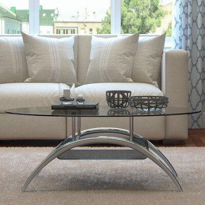 Cleveland Coffee Table with Magazine Rack