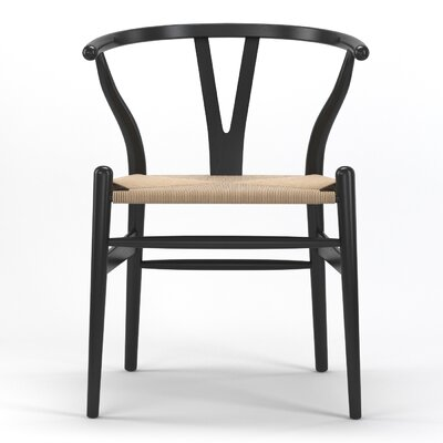 Timber Solid Wood Dining Chair Finish: Black