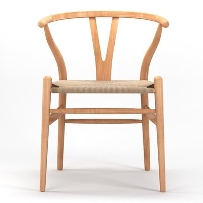 Timber Solid Wood Dining Chair Finish: Natural