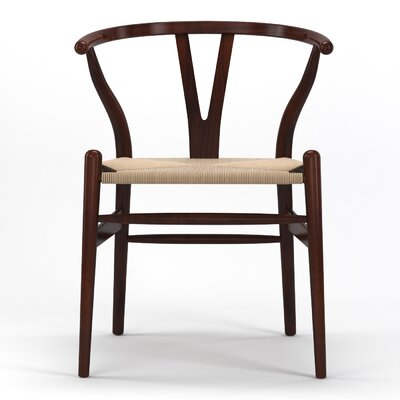 Timber Solid Wood Dining Chair Finish: Brown