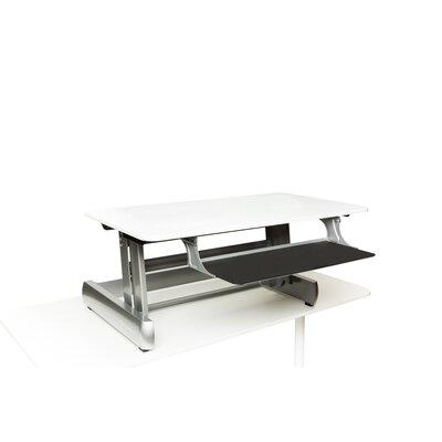 18.75 H x 41 W Standing Desk Conversion Unit Finish: White