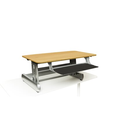 18.75 H x 41 W Standing Desk Conversion Unit Finish: Light Wood