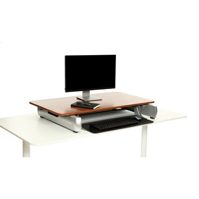 18.75 H x 41 W Standing Desk Conversion Unit Finish: Dark Wood