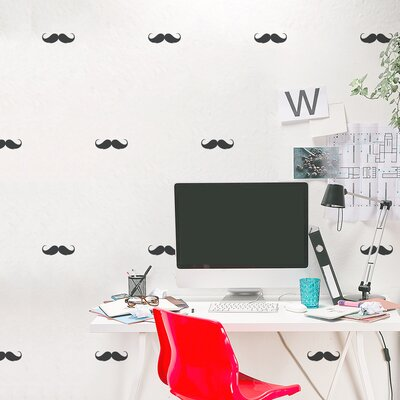 Mini Mustaches Wall Decal Color: Silver Metallic