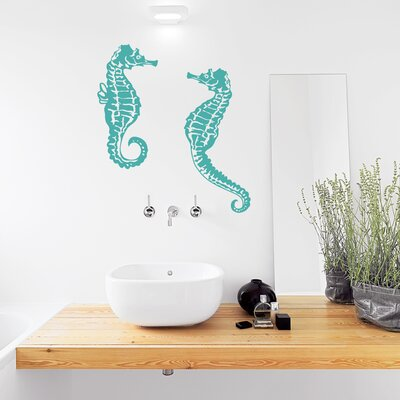 Seahorse Wall Decal Color: Lime Green