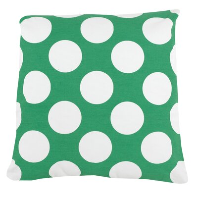 Large Dot 100% Cotton Pillow Cover Color: Turquoise
