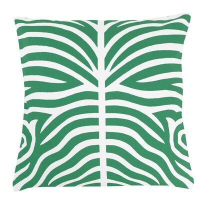 Zebra 100% Cotton Pillow Cover Color: Green